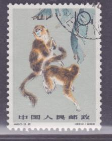 【中國精品郵品保真     新中國老紀特郵票 特60金絲猴 3-2舊票散票】