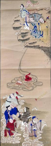 清代木版年畫版畫《八仙聚會》