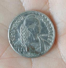 1940年法屬殖民地硬幣一枚(保真)