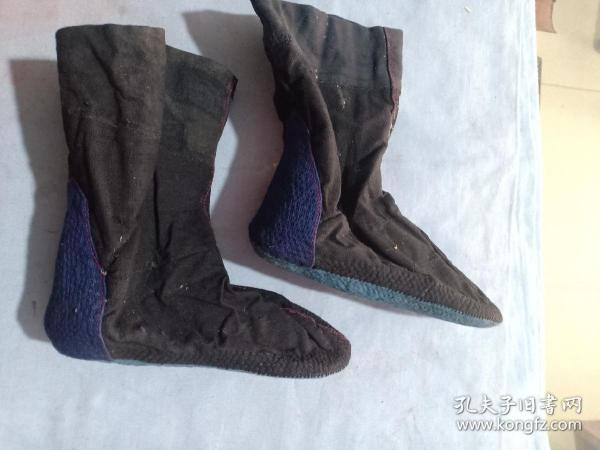 (箱14)清代,手工制作  布軟鞋,納底,16.5*7*15cm