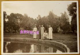 民国老照片:民国抗战时期——云南昆明——圆通山公园。看背题。【韶华胜极系列】