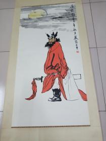 江西美协主席著名画家蔡超作品原装立轴8平尺