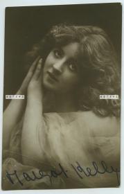 民国早期舞台剧女明星手写亲笔签名照片一张