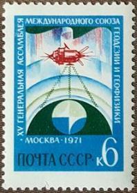 外国早期珍稀邮品终身保真【苏联邮票ZX 1971年  国际地球物理和大地测量会议L 1全】
