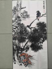 【保真 特惠】中美协会员 清华美院助理导师 王铁君 三尺写意花鸟小品1
