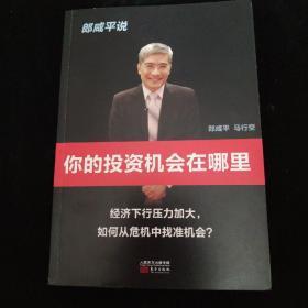 郎咸平说:你的投资机会在哪里  内有书写