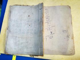 毛笔手抄本 《贡献礼》 正文4叶8面     白页14叶[12.3×17厘米