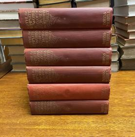 The Complete Works of James Whitcomb Riley  Volume 1-6 毛边书, 书籍顶部刷金。 1913年出版
