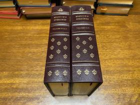 Speeches of Lord Erskin      Volume 1-4  装订成两册 限量版 编号914#  真皮精装 书口三面刷金 能保存 数百年的存档级别的无酸纸