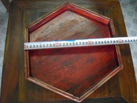 六角木盘一只