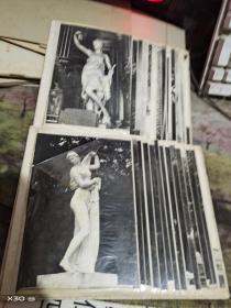 雕刻人体老照片、、、一应该是九十年代左右的55枚【  沂蒙红色文献个人收藏展品 】