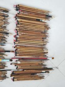 80年代竹子毛笔126根,都正常使用