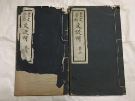 画史汇稿 文征明(上下册全)1929年出版