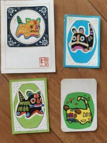 虎年历片绘画设计原稿彩色画稿一套