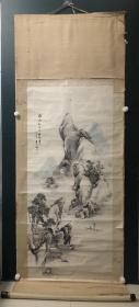 日本回流字画 原装旧裱   542   大尺幅山水