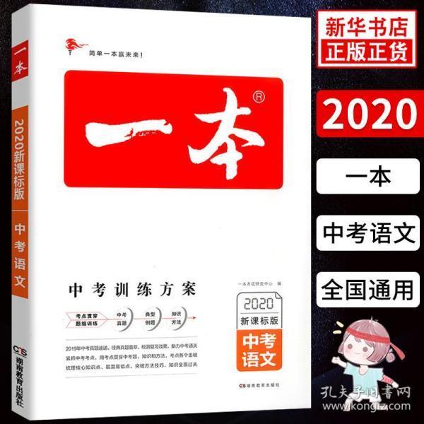 2019中考语文 新课标版 一本中考训练方案 专注训练16年