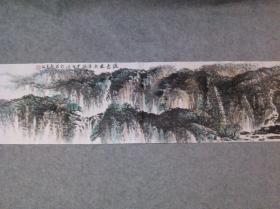 国画山水 横幅 绿意盎然 原稿手绘真迹
