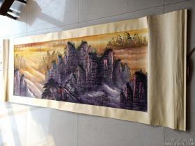 乡下收的近代名人刘海粟山水画一幅51