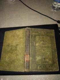 soils and fertilizers(32開硬精裝)1921年出版.
