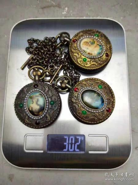 民國時期瑞士進口老懷表,寶石鑲嵌,上弦可正常使用!每個800