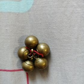 银鎏金扣子实心古玩银器老古董明清金银首饰