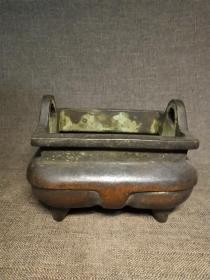 槽形铜香炉