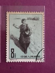 """特47《西藏人民的新生》信销散邮票5-2""""幸福从此扎下根(播种)"""""""