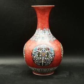 珐琅彩团花纹赏瓶