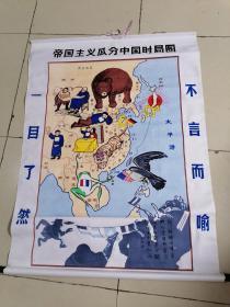 帝国主义瓜分中国时局图(布挂图)