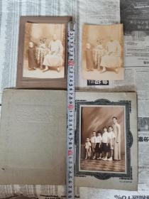 民国影像  老照片  3张合售  清末蛋白老照片2张 民国银盐儿童题材照片1张  品相及尺寸见图