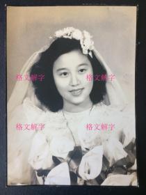 民国老照片 美女结婚照 绝美绝美 相纸也好