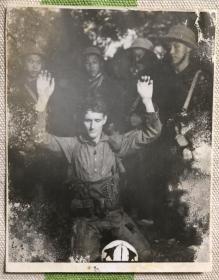 早期 志愿军战士俘虏美军 罕见老照片一枚