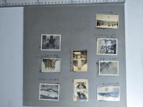 来自侵华日军联队相册,此为其中1页9张照片,有河北省易县城内,易县东楼,是否是前寺后村