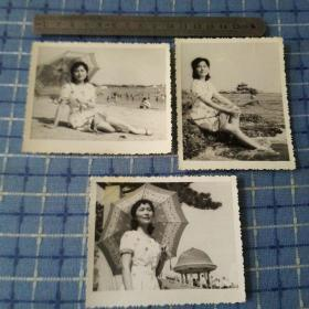 大海与美女老照片