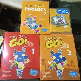 牛津原版3-6岁 Get set go 学生书 1.2+PHONICS +3语光盘2张(共四样)有破损,售后不退不换