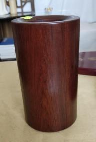 缅甸花梨木笔筒