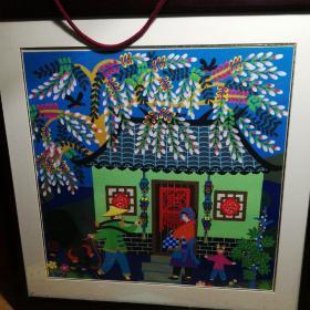 金山农民画—曹秀文(作品《春意》入选2010上海世博会主题馆)
