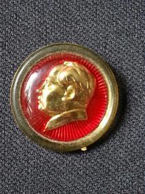 毛主席像章   【背面标记:上海  15】【包老保老】