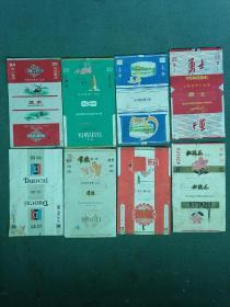 早期烟标《沅水,小雁塔,长廊,勇士,多彩,常德,新禧,杜鹃花》8张合售