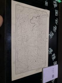 民国地图:三塘 贵州省  民国二十四年制, 品如图。品自定 58*36CM    100号柜
