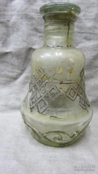 老玻璃醬油壺