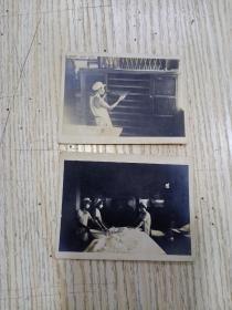 五十年代  工人照片 2张合售