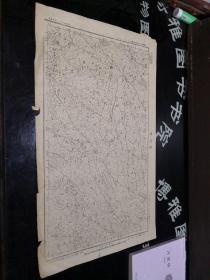 民国地图:岩坑场  贵州省  民国二十四年制33年印, 品如图。品自定 57*34CM    100号柜