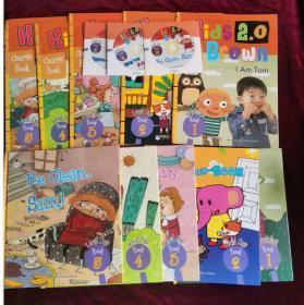 正版 Kids Brown2.0 Level One 布朗儿童英语 1(5书+5练习册 共10册)3光盘