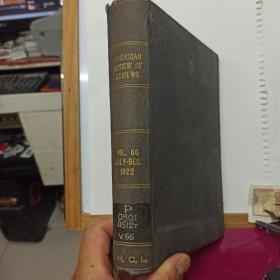 1922年英文原版  AMERICAN  REVIEW  OF  REVIEWS    1922年  7-12月     原北京清华学校,国立清华大学,中国人民大学藏书