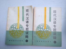 现代汉语专题说略(上下)
