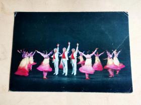 一张北朝鲜 群午《降仙的彩霞》    明信片