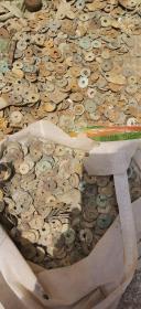 江西 赣江沙船打捞历代铜钱10斤,明钱,清钱,也有唐宋古钱。品差,论斤秤。5公斤。数量巨大,博物馆级陈列品。