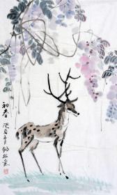 海宁—朱锡林精品初春紫藤小鹿
