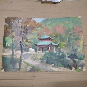 油画 秋天的风景